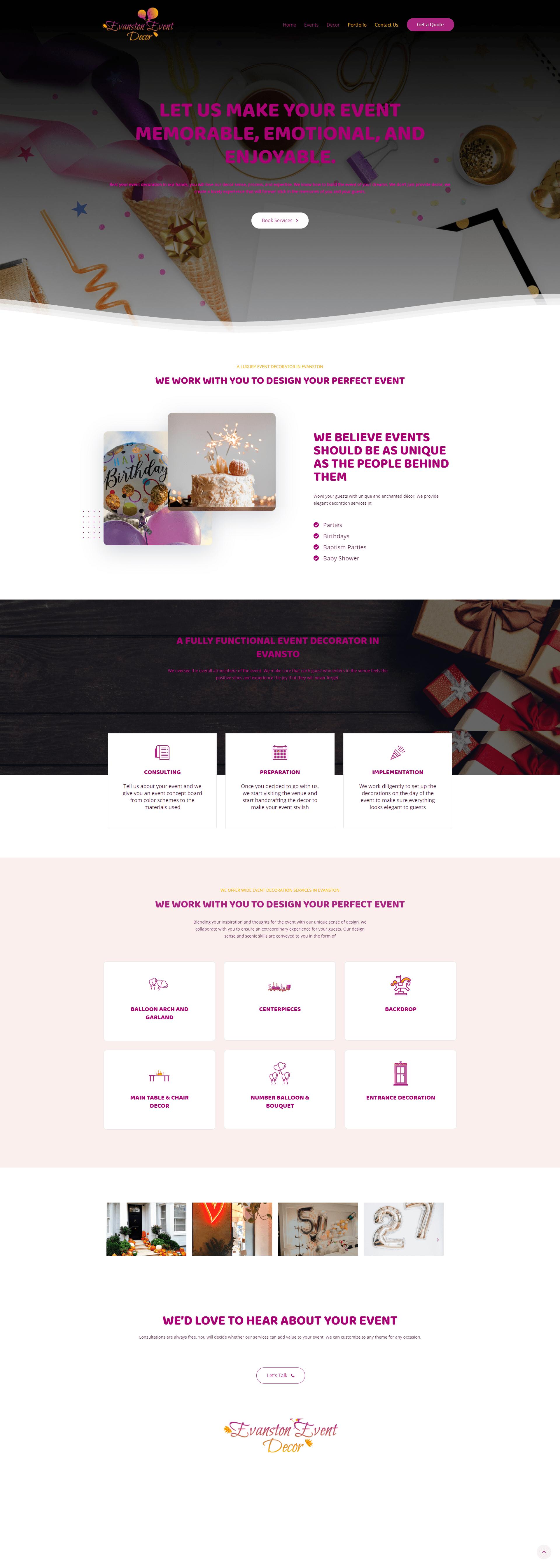 Event Decorator Startup