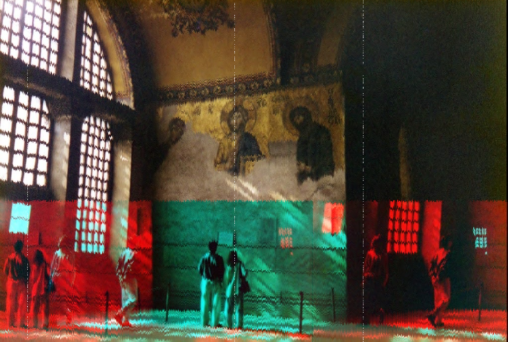 """Hagia Sophia, Oktober 1995"" by Leen Kievit (cc), Modified by EM"
