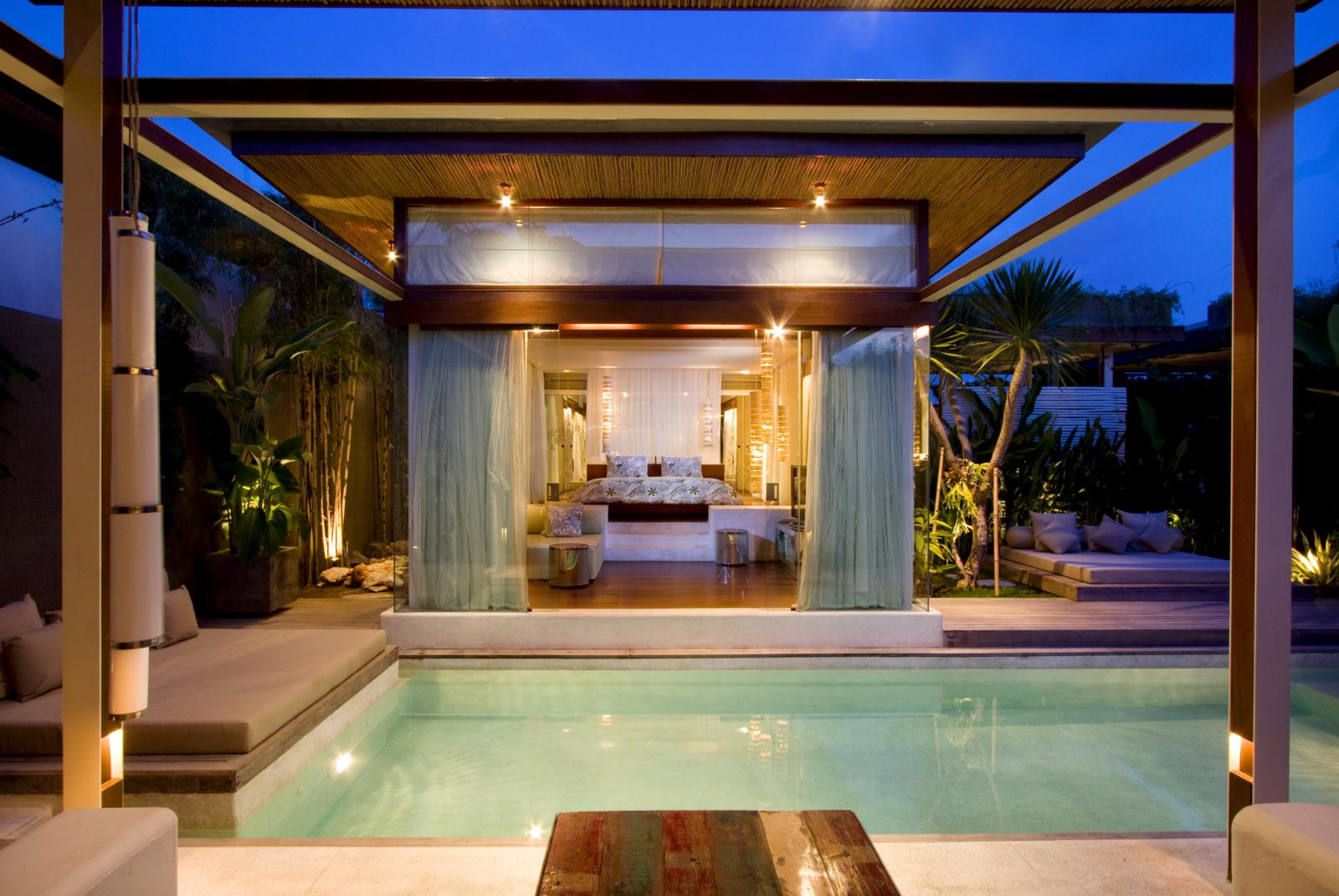 Every villa in the hotel is unique and every space in each villa interacts with one another