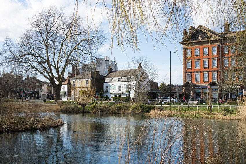 Barnes Village Green London