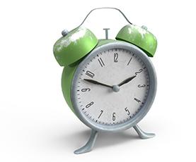 3D Clock that represents lost time