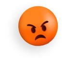 Sad face represents no new clients