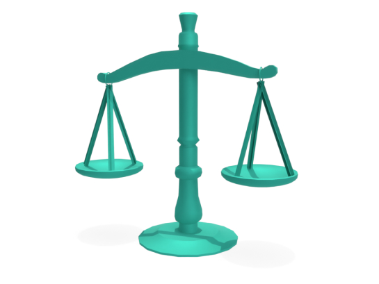 3D Scale that represents integrity