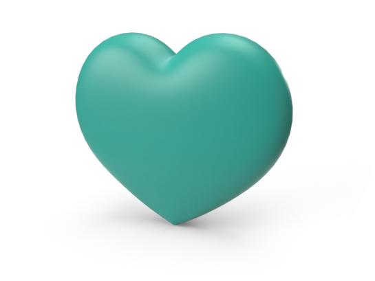 3D Heart that represents relationships