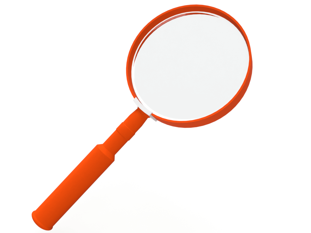Magnifying glass which is the symbol of The Marketing Detective Agency