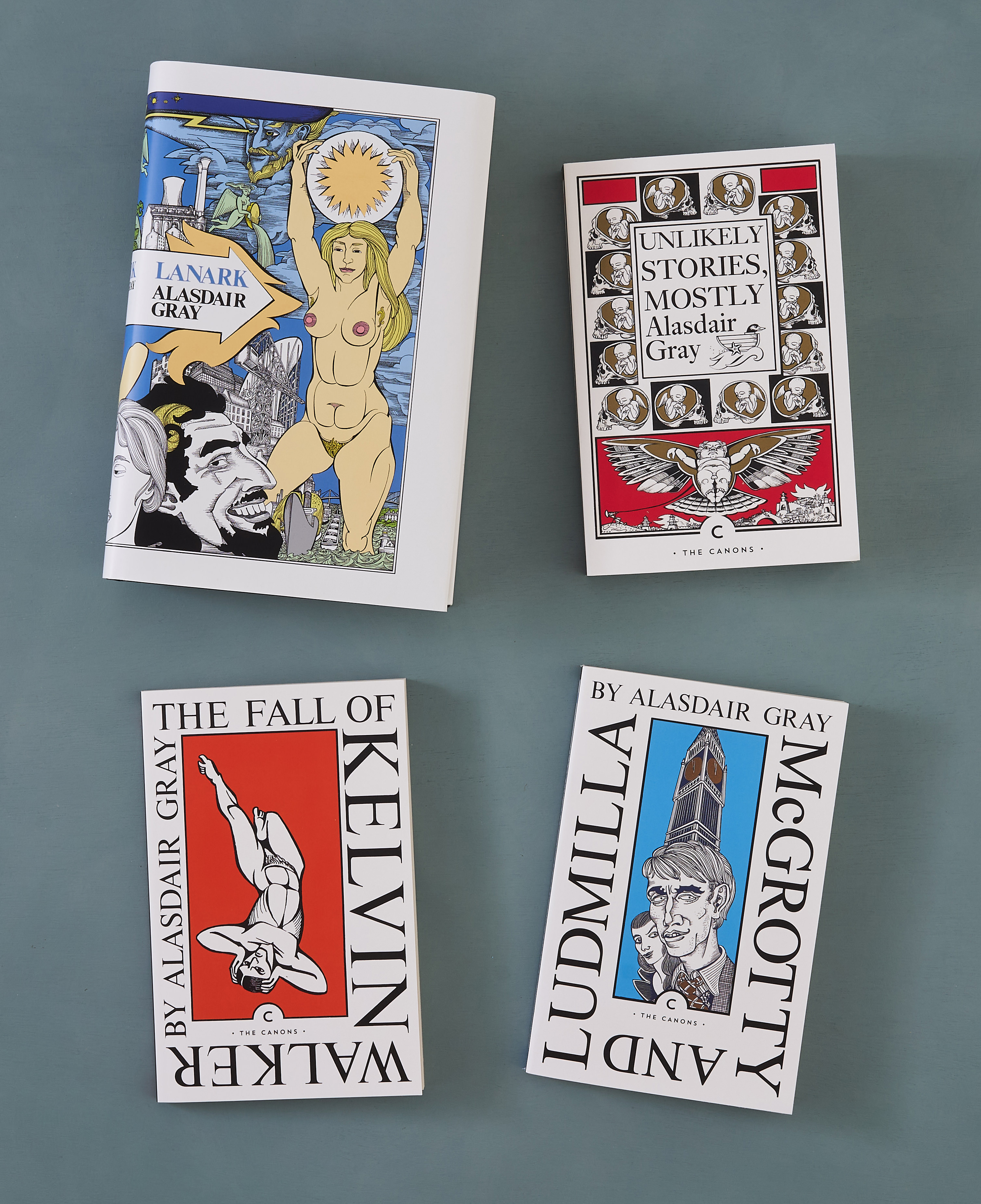 Lanark, Unlikely Stories, Mostly, McGrotty and Ludmilla, The Fall of Kelvin Walker (these editions: Canongate, 2021)