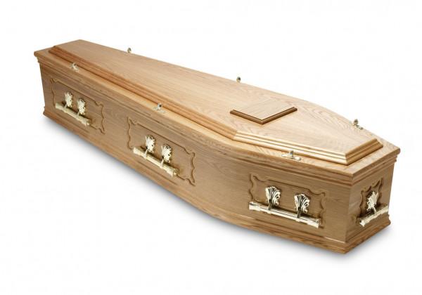 Real Oak Coffin