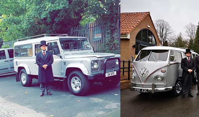 George John Funeral Directors Solihull Funeral Vehicles Land Rover VW Camper