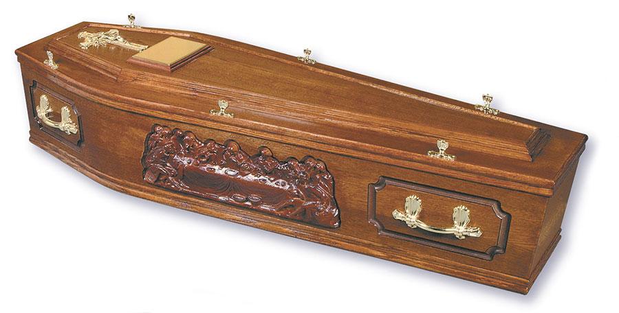 George John Funeral Directors Solihull Last Supper Coffin