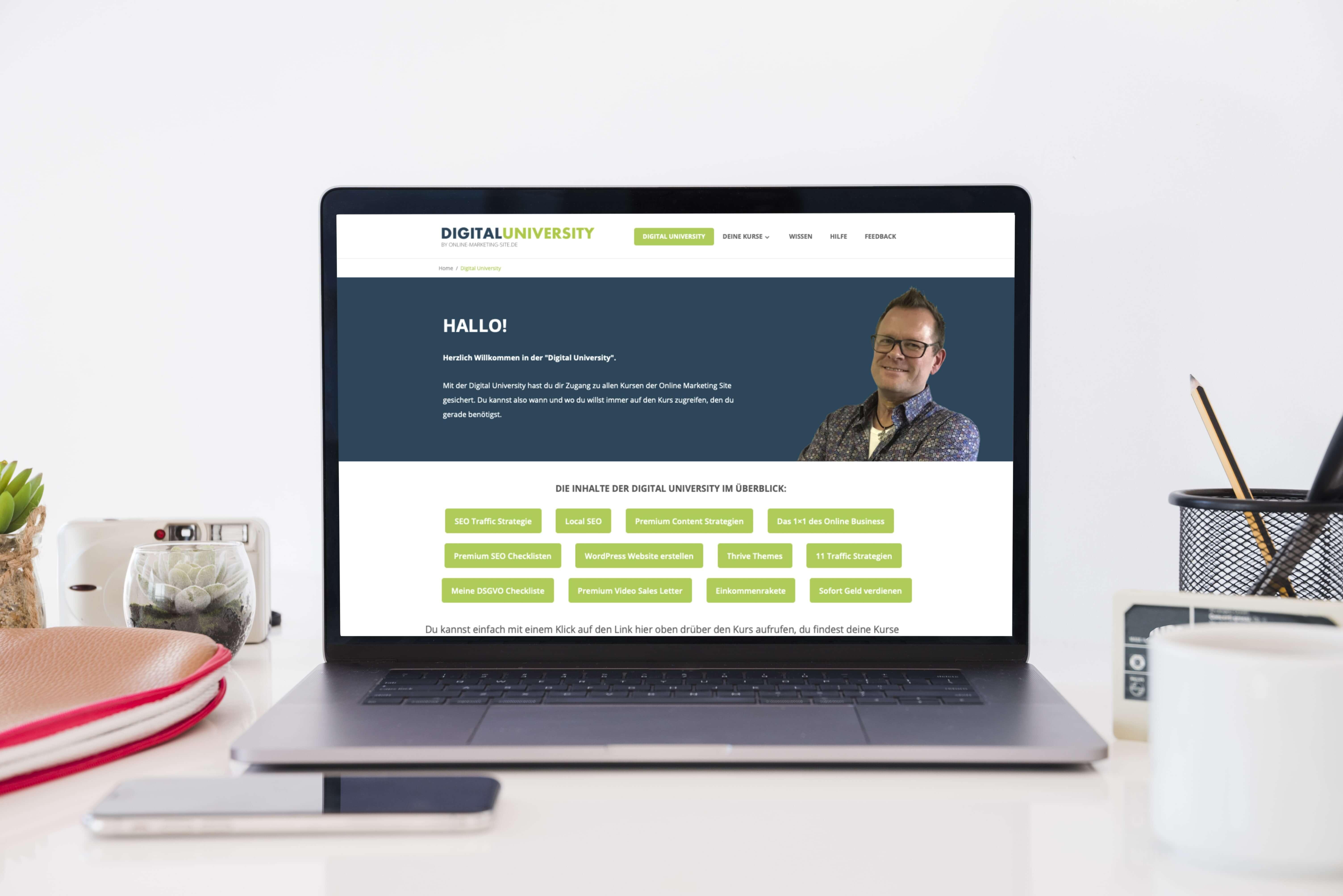 Onlinekurs Digital University