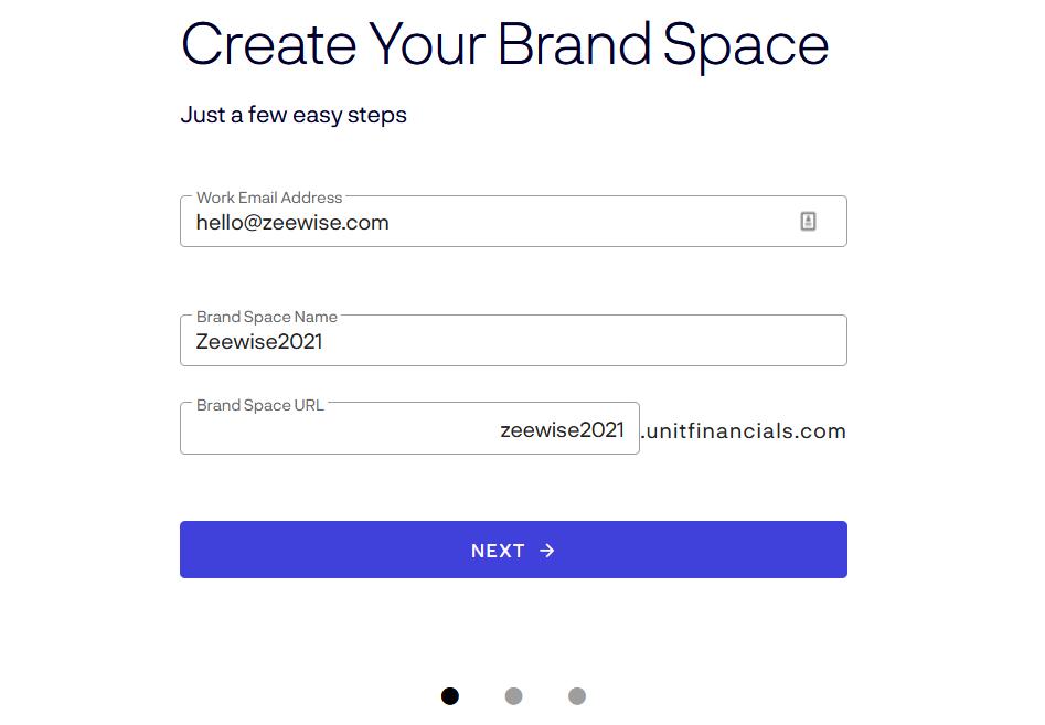 Create Brand Space Name and Custom URL