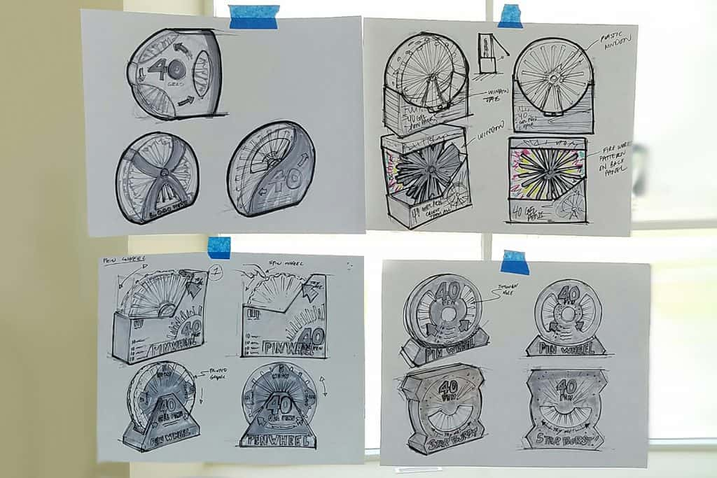 PACKAGING CONCEPT SKETCHES