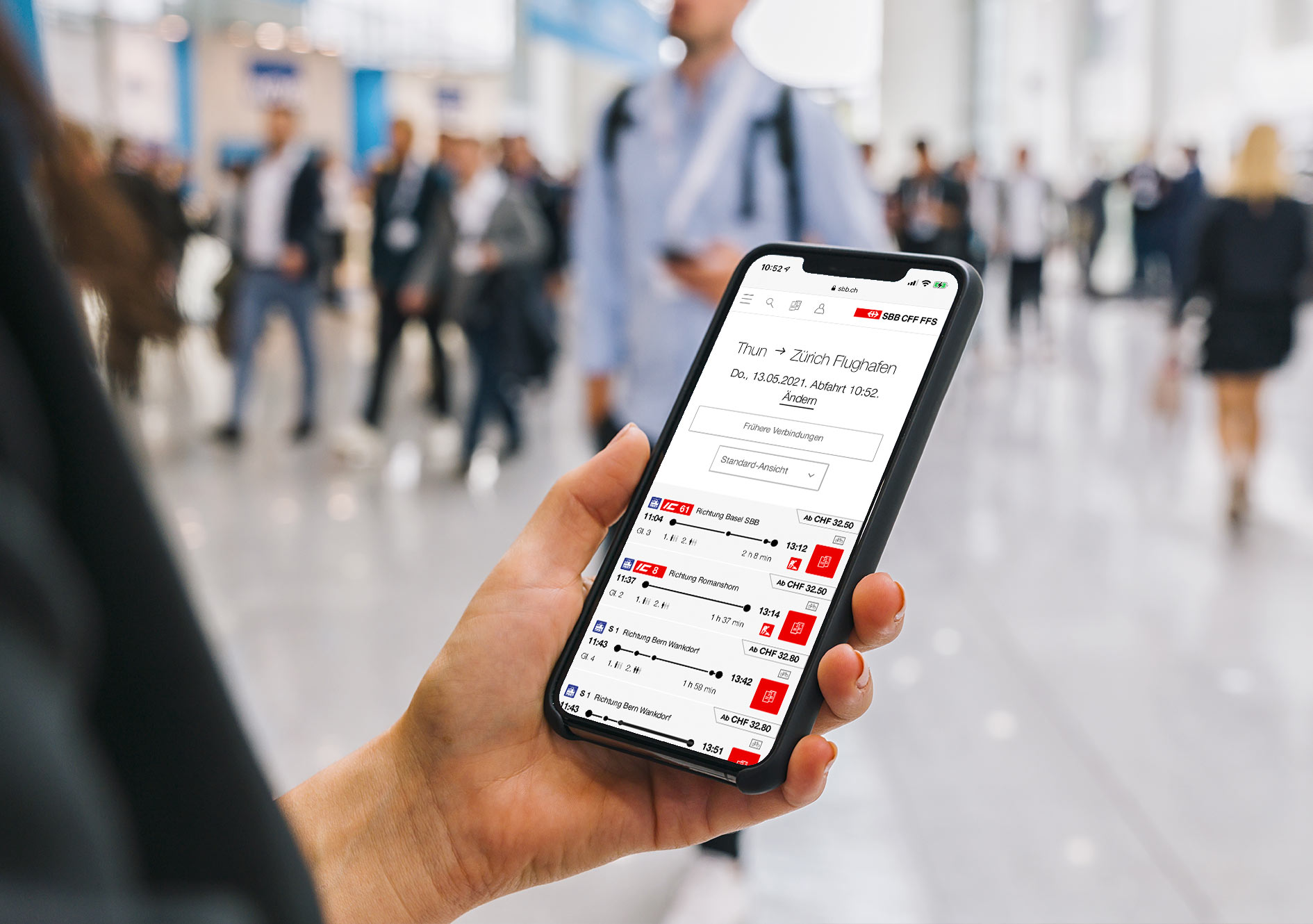 Online-Ticketshop und Online-Fahrplan auf SBB.ch
