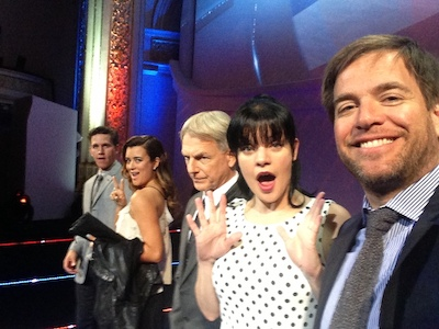 Michael Weatherly with NCIS cast mates