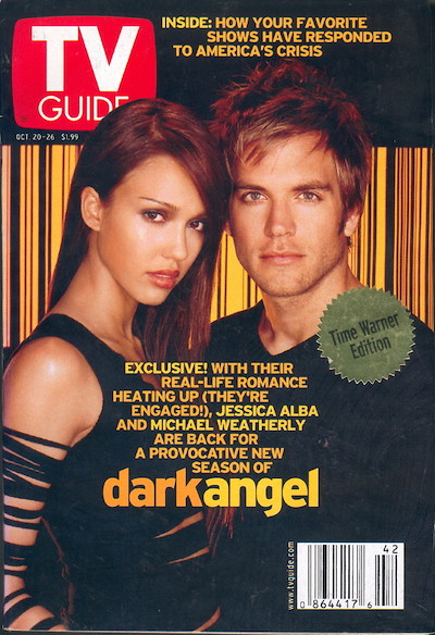 Michael Weatherly on TV Guide Cover with Jessica Alba
