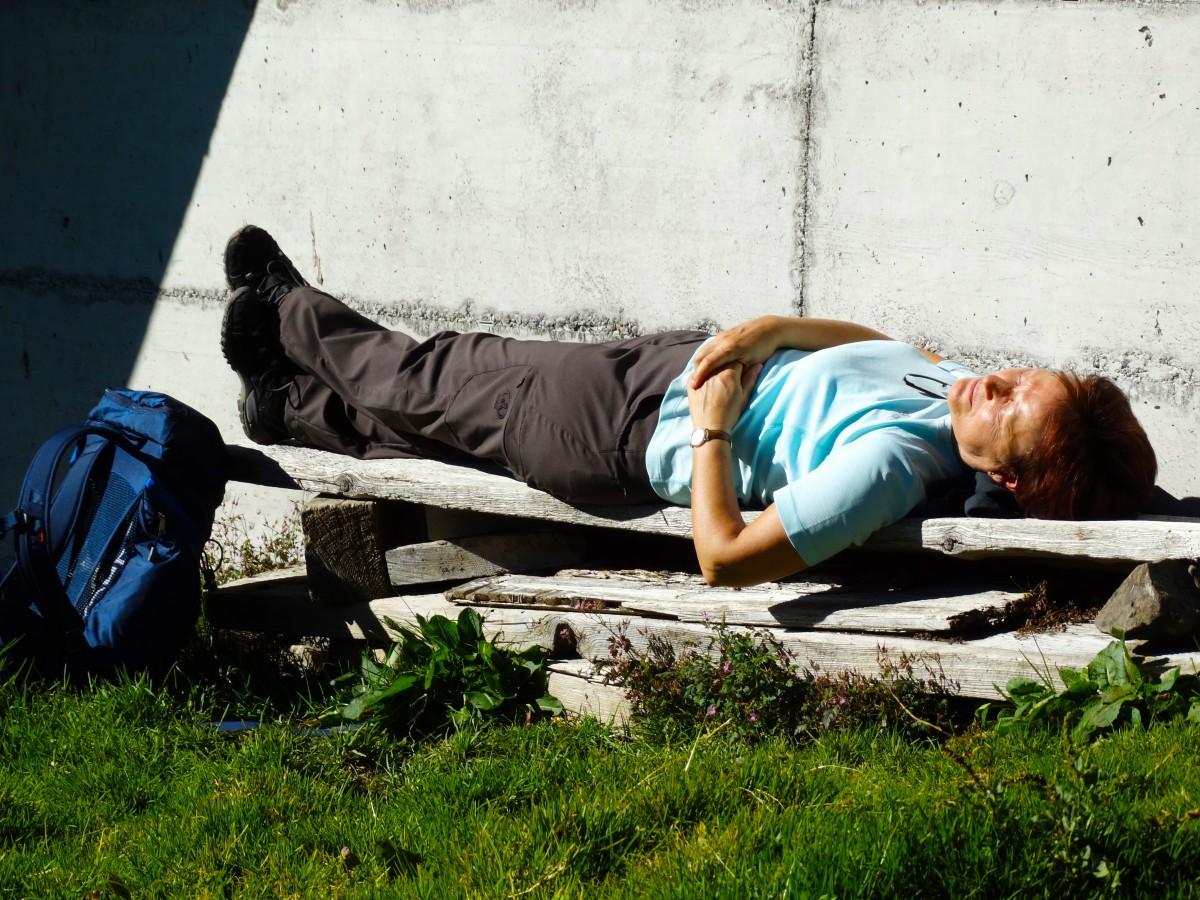 Banc improvisé de relaxation