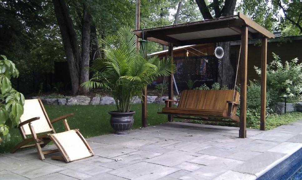 Terrasse piscine en pierre taillée