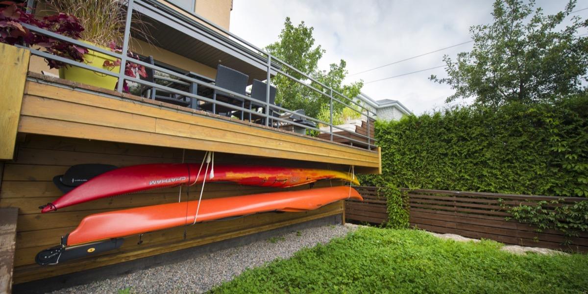 Cabanon pour kayaks