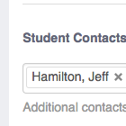 Student Contacts