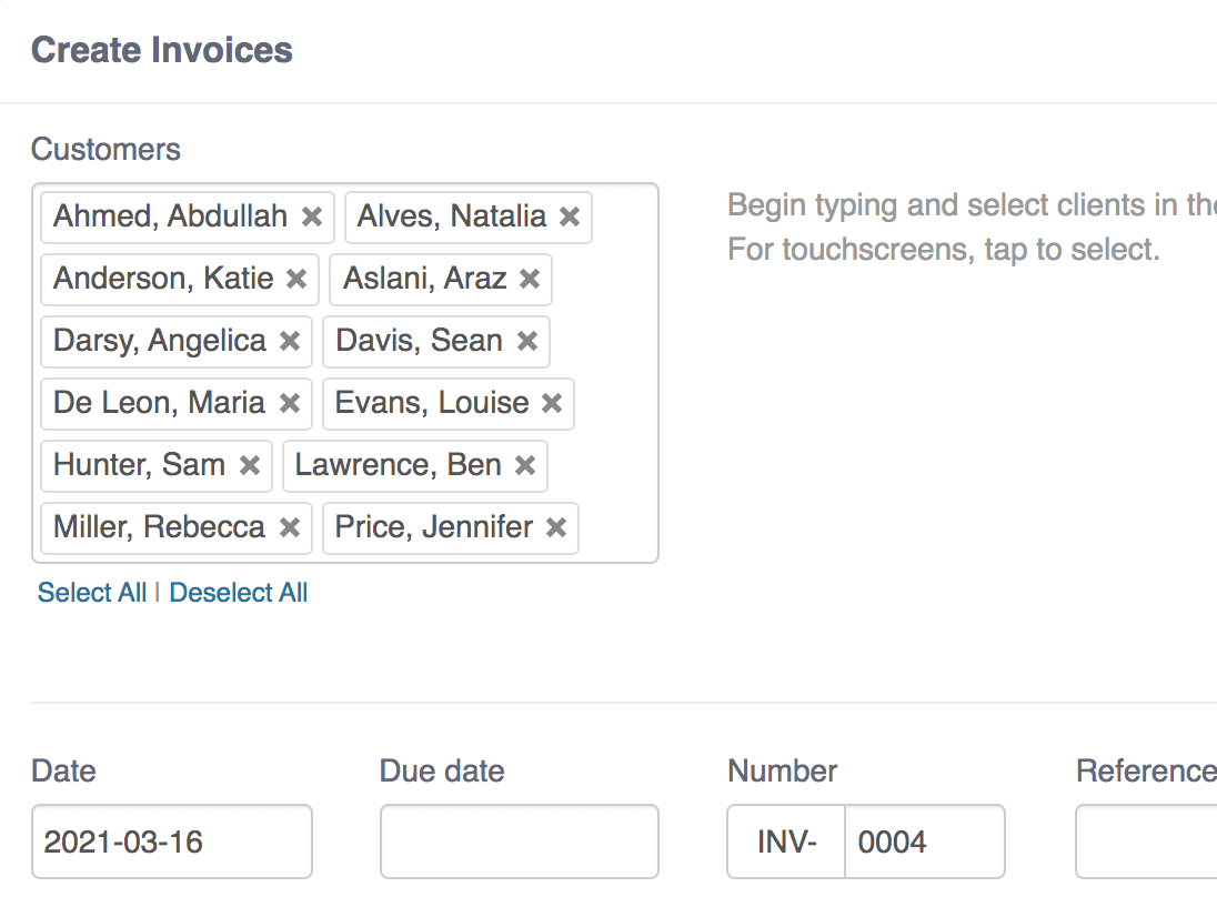 flexible invoicing