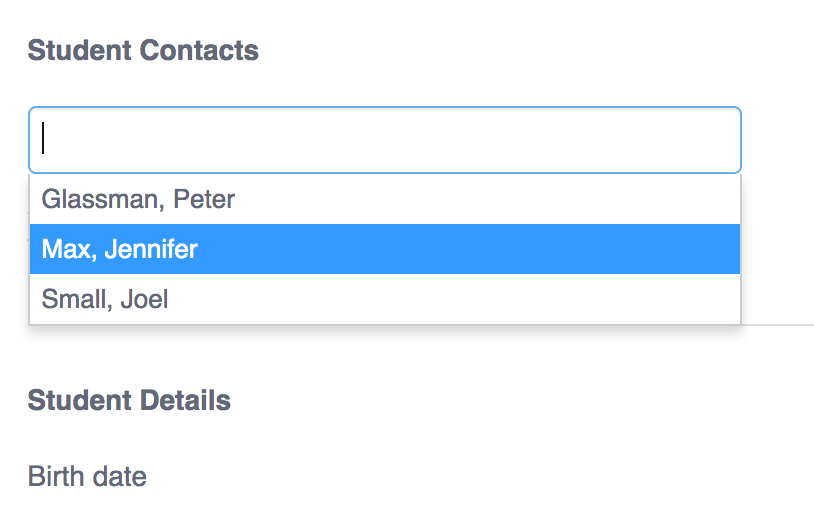 student contact
