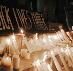 Candles at a memorial