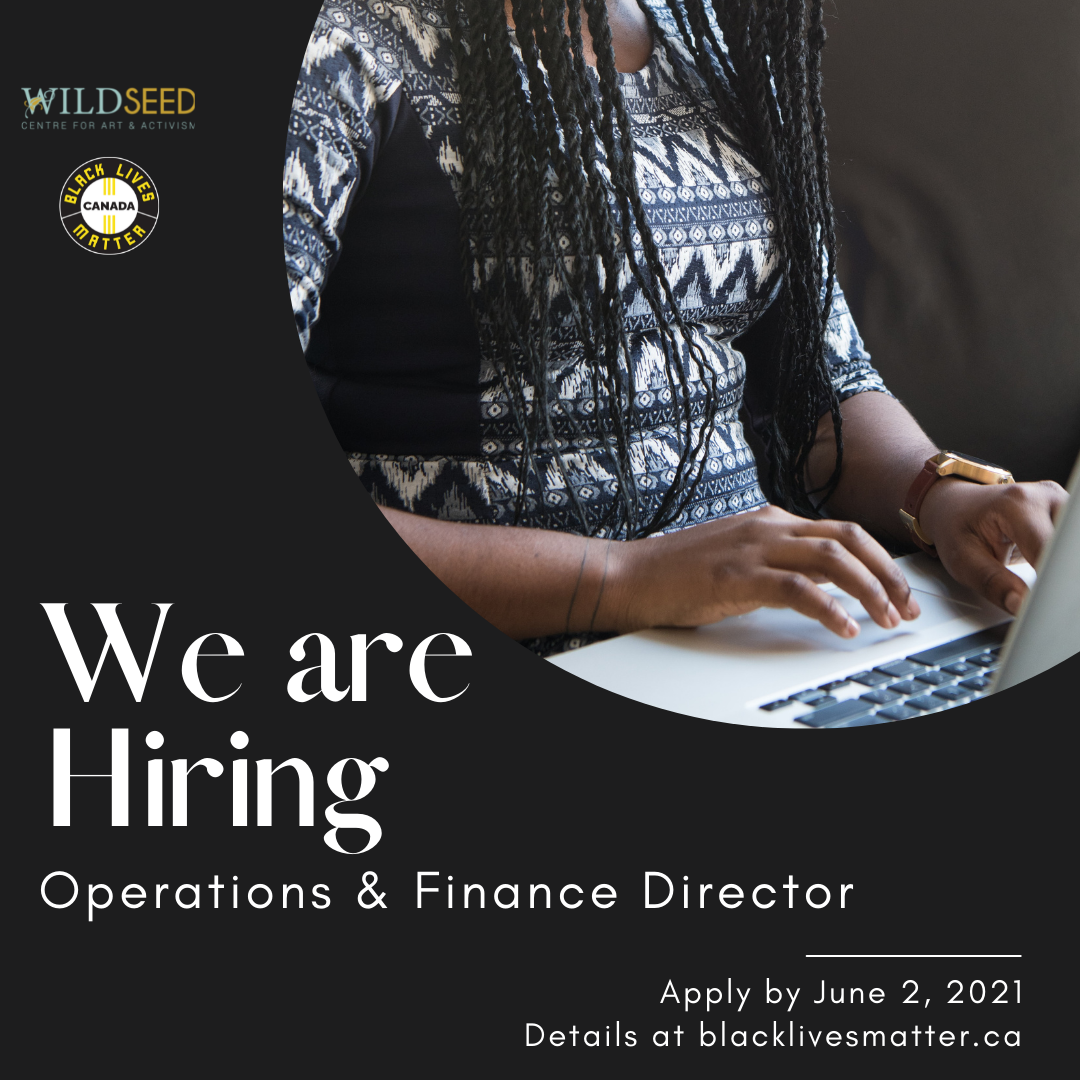 We are hiring: Operations & Finance Director. Deadline to Apply is June 2, 2021.