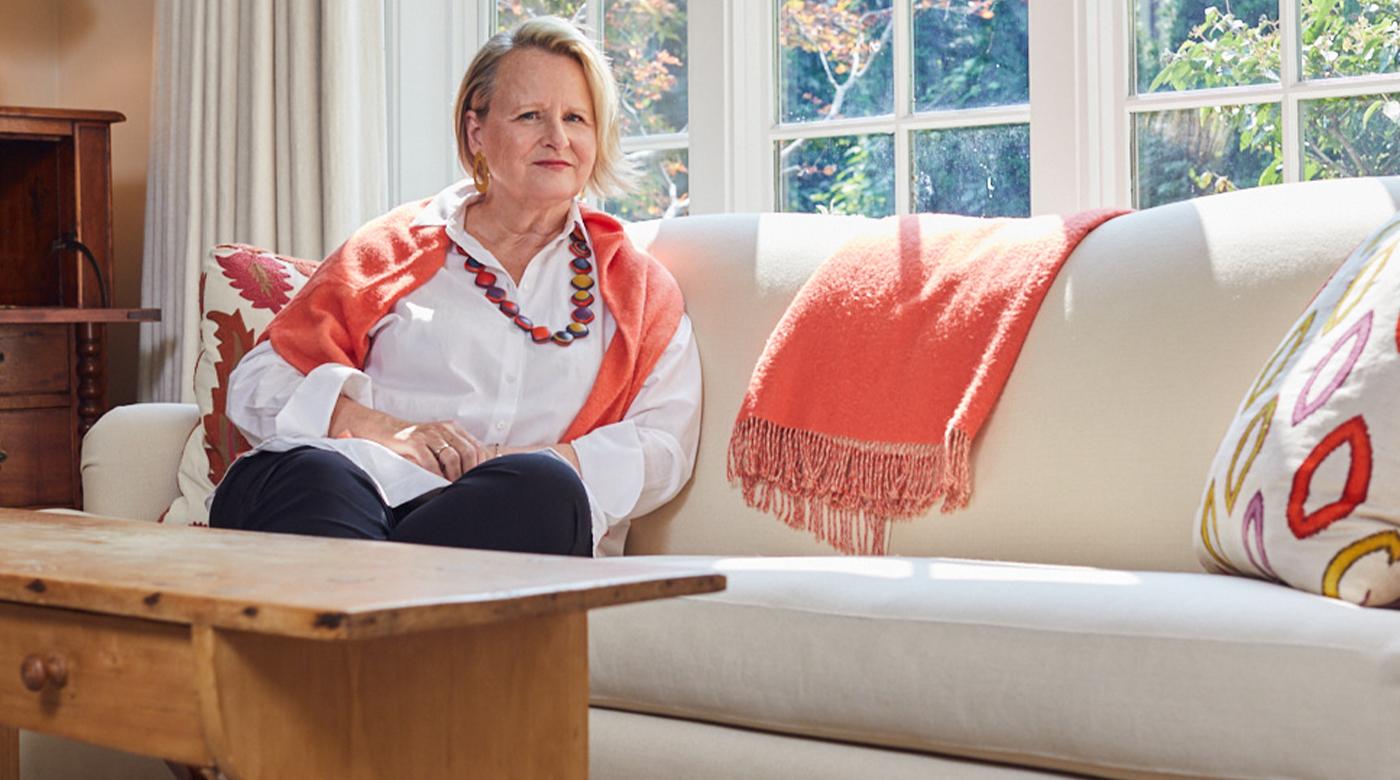 Ann in her living room