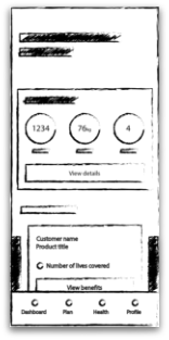 Picture of a mobile app wireframe