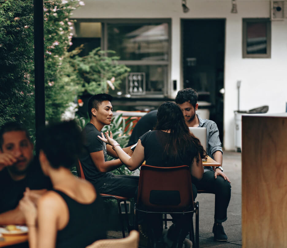 People meeting in a coffee shop