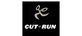 Cut + Run logo in white