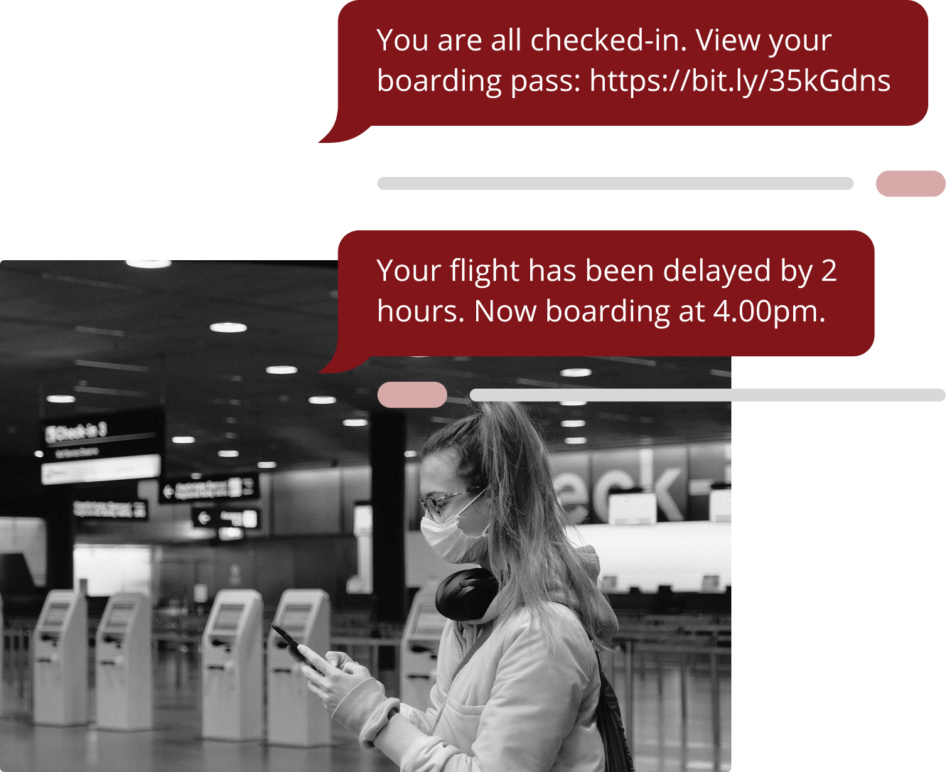 Flight Check In Message Graphic