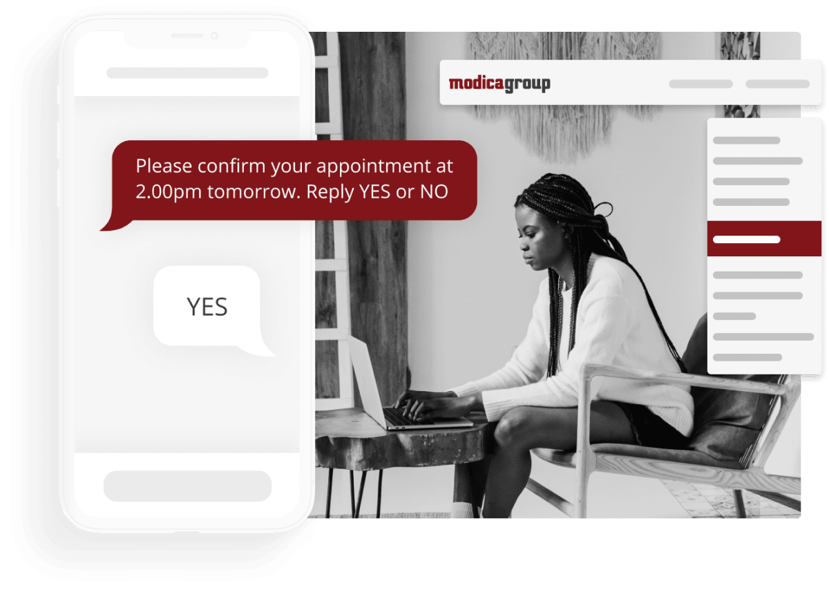 Use SMS for Appointment Reminders.