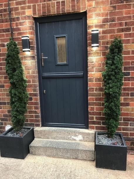 This anthracite grey composite door from Solidor Composite Doors with  Ultion Lock installed in Bradford certainly lo… | Stable door, Exterior  doors, Composite door