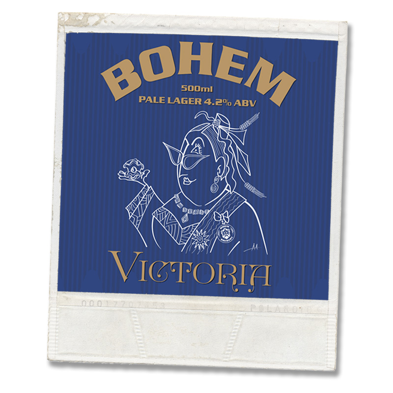 Beer labels for Bohem Brewery London