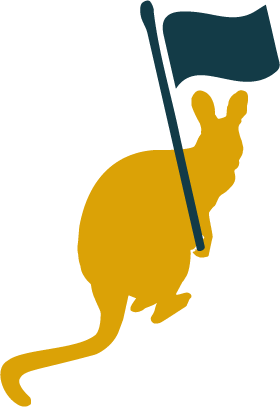 Wallaby-holding-a-flag