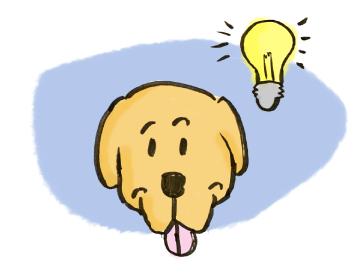 Dog with an idea