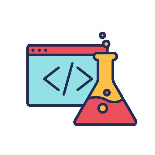 Coding Website & Test Tubes