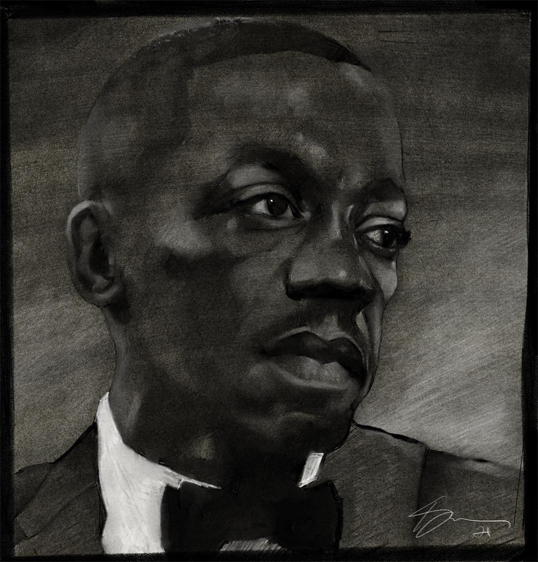 Portrait of Art Blakey