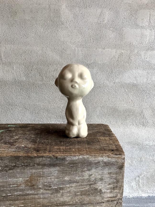 Det lille menneske. Hvid blank.