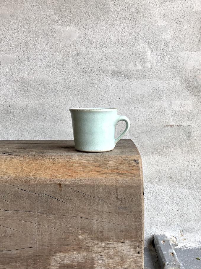 Lille kop med hank. Turkis.
