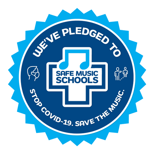 Safe Music Schools Badge. We've pledged to stop COVID-19. Music and dance lessons in edison new jersey