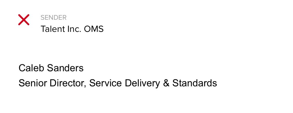 Email signature: before