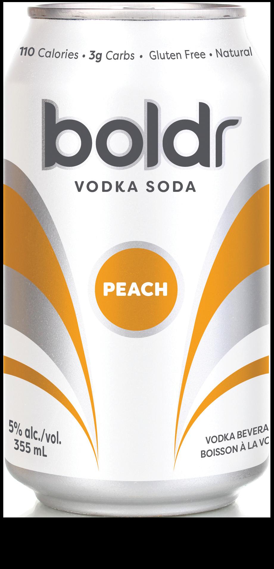 Boldr Peach Vodka Soda