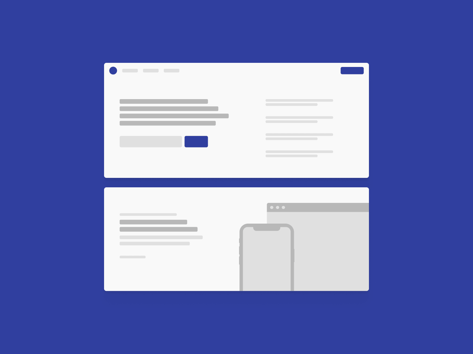 low-fidelity wireframe kit for sketch and figma