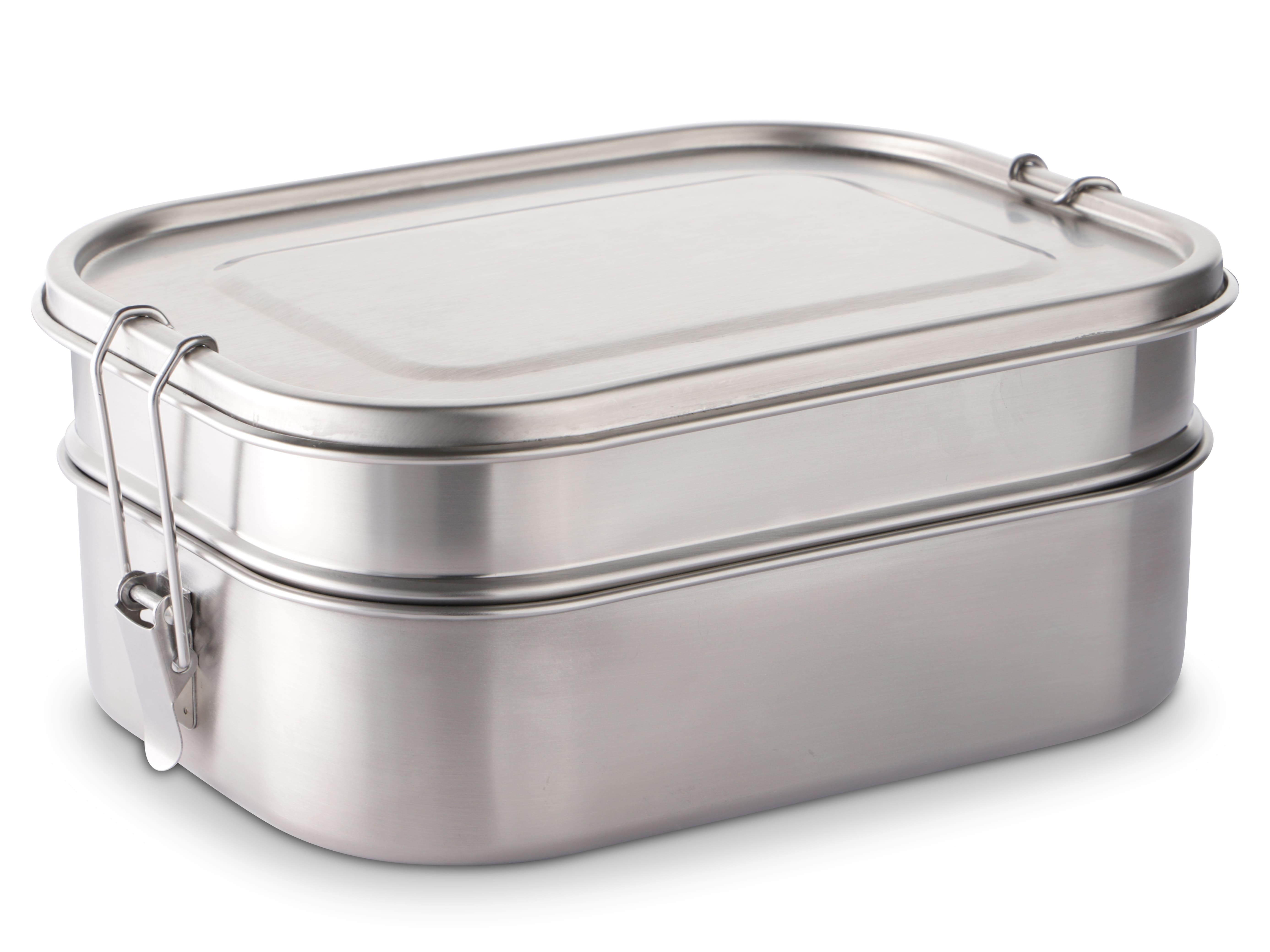 Größe Lunchbox aus Edelstahl für Mitarbeiter als nachhaltige Geschenkartikel
