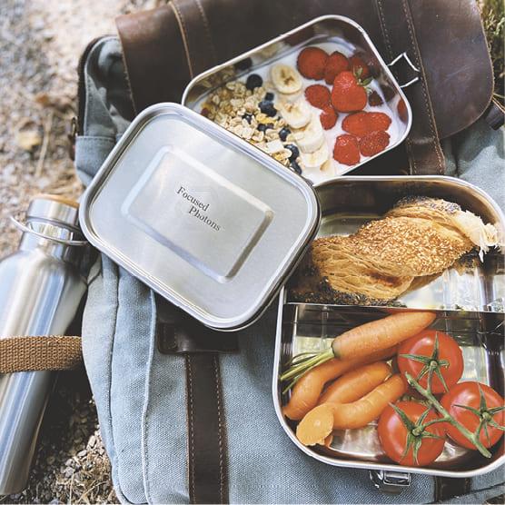 Lunchbox aus Edelstahl personalisiert als Geschenk für Mitarbeiter und Kunden