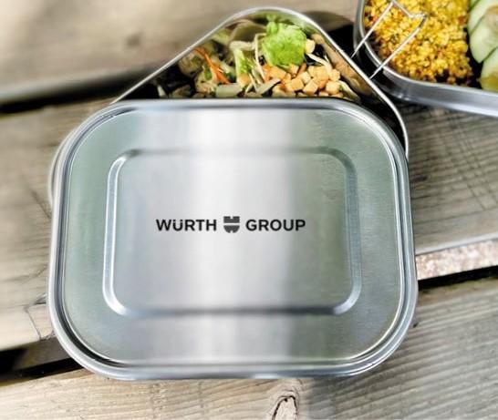 Lunchbox graviert mit Logo