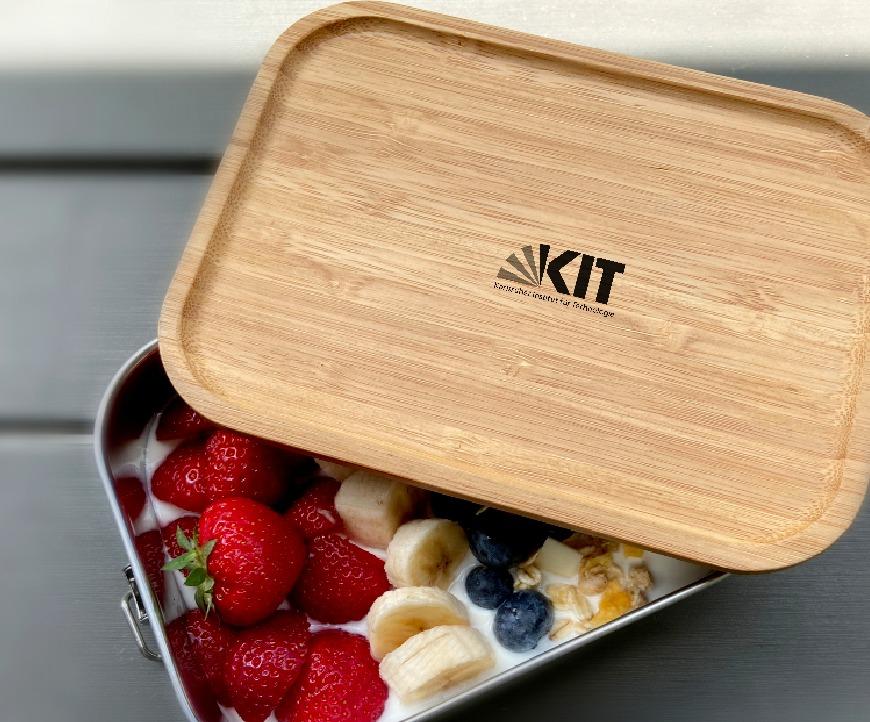 Vesperdose graviert mit Logo - Brotzeitbox mit Holzdeckel individuell personalisiert - business gifts