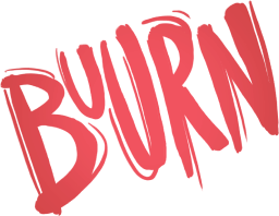 """Logo of the board game licence 'Buurn"""" on top of the page"""